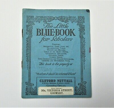 Little Blue Book For Scholars Clifford Nuttall Optician Grimsby 1940s Booklet • 5.95£