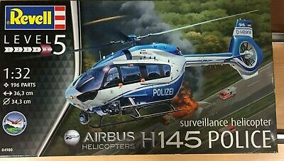 Revell 04980,airbus H145 Police,surveillance Helicopter,escala 1:32 • 27.53£