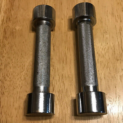 $ CDN35.58 • Buy Retro Interchangeable Chrome 2 Lb Dumbbell Hand Weights Pair Of 2 Screw Off