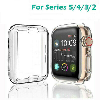 $ CDN3.25 • Buy For Apple Watch Series 5/4/3/2 Soft Clear Full Body Case Cover Screen Protector