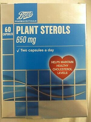 Plant Sterols 650mg 60 Capsules Helps Maintain Healthy Cholesterol Levels  • 12.99£
