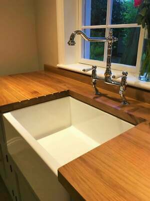 £1195 • Buy Free Standing Belfast Sink Unit With Rustic Oak Worktop Including Sink And Taps