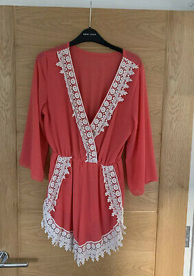 Coral Summer Playsuit • 6£