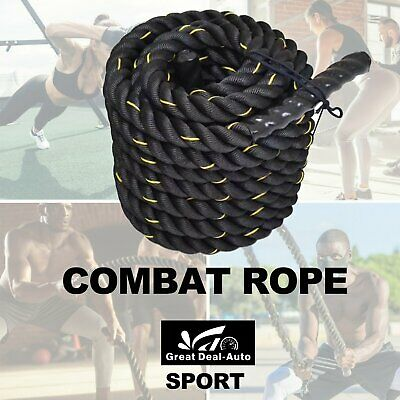 AU55 • Buy 38MM X 9M Heavy Home Gym Battle Rope Power Strength Training Exercise Fitness