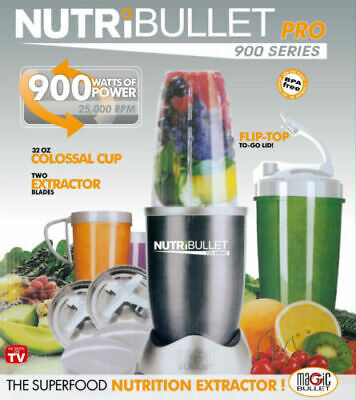 AU79.99 • Buy Nutribullet Pro 900w Vegetable Juicer Mixer Extractor Blender 14pcs Set