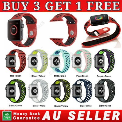 AU8.39 • Buy Silicone Nike Sport Strap IWatch Band For Apple Watch 38/40/42/44mm Series 54321