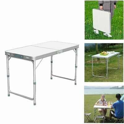 4FT Folding Camping Table Aluminium Picnic Portable Adjustable Party BBQ Outdoor • 25.99£