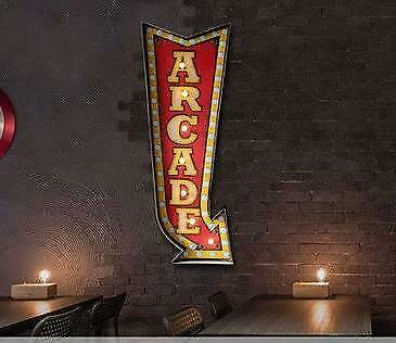 Retro Hang Sign Led Light Arcade Party Bar CLub Home Store Decor Wall Art Cave • 40.02£