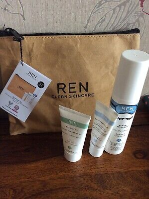 REN Clean Skincare Gift Set In Recyclable Zipped Paper Bag Inc 75 Ml Sleep Spray • 12.99£