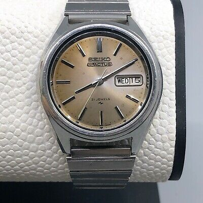 $ CDN126.67 • Buy Vintage Seiko 5 Actus Automatic Watch  7019-7060 Day Date 21 Jewels Serviced