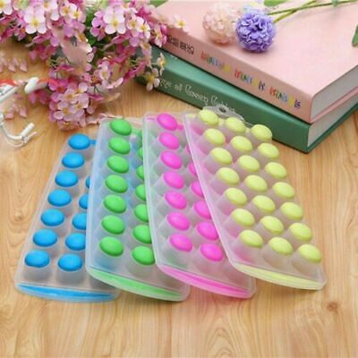 £2.30 • Buy UK NEW HOT Ice Cube Tray Easy Pop Out Maker Plastic Silicone Top Mold 21 Jelly