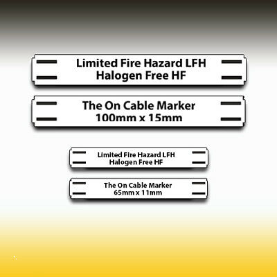 Cable Identification Tags  FREE UK DELIVERY • 16.20£