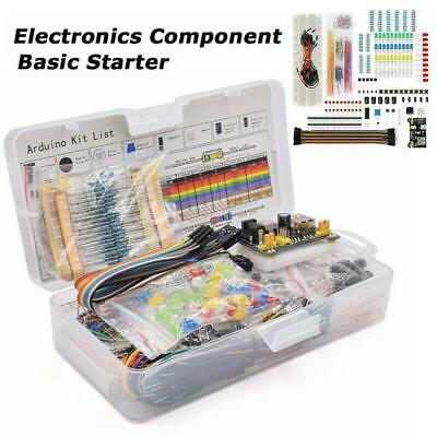 Electronic Component Starter Kit Wires Breadboard Buzzer Resistor Transistor LED • 12.06£