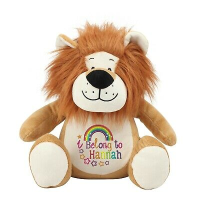Large Lion Personalised Soft Plush Lion Teddy Embroidered & Your Name • 22.95£