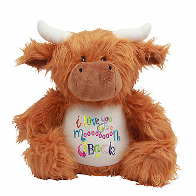 Large Highland Cow Personalised Soft Plush Teddy Embroidered & Your Name • 22.95£