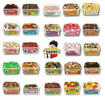 1 X Full Tub Haribo Sweets Candy Box Jelly Gummy Treats Party Favours Drum • 8.99£