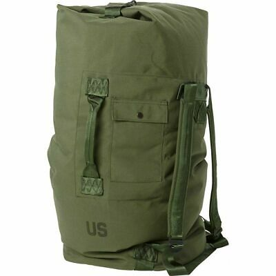 $23.79 • Buy US Military Army DUFFLE/SEA BAG LUGGAGE Top Load 2 Strap OD NYLON VERY GOOD Cond