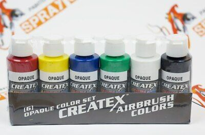 £18.11 • Buy Createx Opaque Airbrush Paint Set 6 2oz Primary Colors - Crafts, Art 5803 - 00