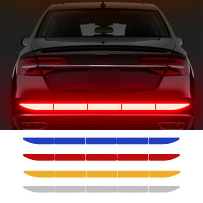 AU5.95 • Buy Car Reflective Warn Strip Tape Bumper Safety Sticker Decals Paster Accessories