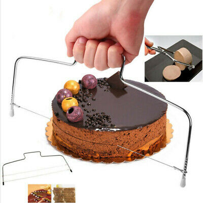 Adjustable Wire Cake Slicer Cutter Leveller Decorating Bread Wire Decor Tool • 2.99£