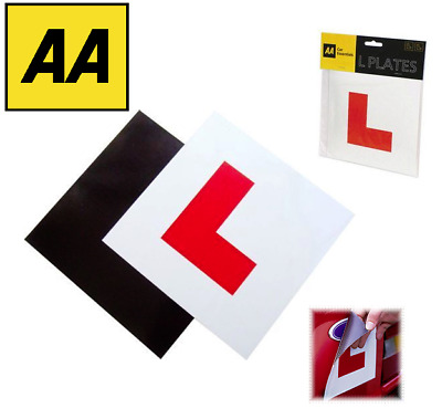 AA L Plates Fully Magnetic Secure Learner Driver Exterior Car Bike - Free Post • 2.69£