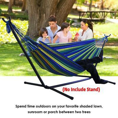 Portable Outdoor Canvas Hammock Stand Camping Sleeping Swing Hanging Bed Chair • 27.32£