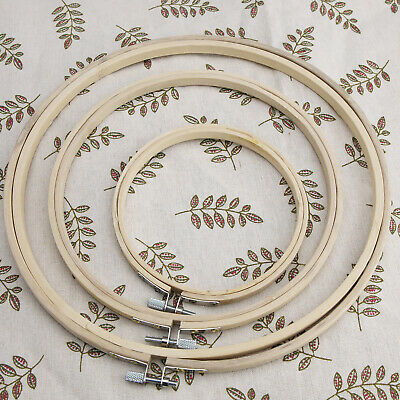Wooden Cross Stitch Machine Embroidery Ring Hoop Bamboo Sewing 5'' 8'' 10'' • 12.58£