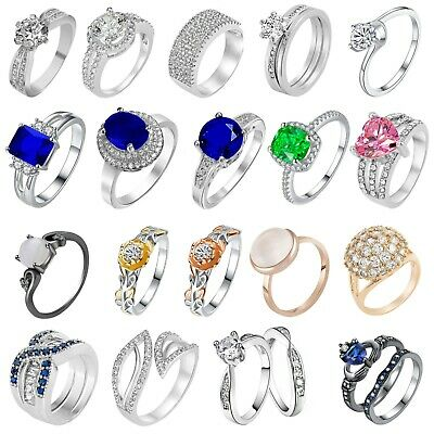 Swarovski Ring Crystal Elements Jewellery Gems Fashion Summer Real Quality UK • 3.99£