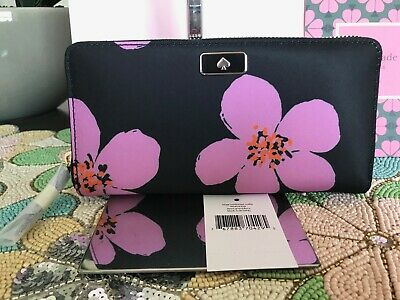 $ CDN107.32 • Buy KATE SPADE Dawn Large Continental Wallet  Wlru6206 Black Multi $229
