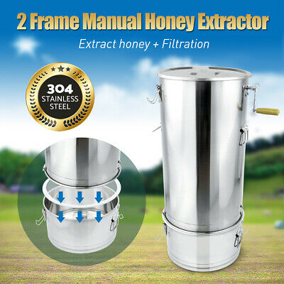 AU203.28 • Buy Extract Honey Extractor Filtration 2 Frame Beekeeping Equipment Manual Honeycomb