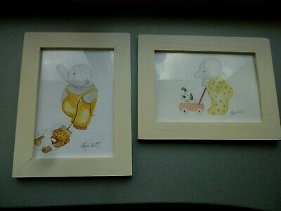 $ CDN26.73 • Buy 2 Pairs  Watercolor Drawings By Nuki 2005 For Children Kids Room Wall Decoration