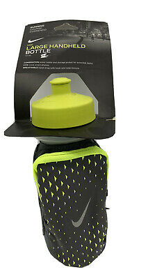 $21.99 • Buy New Nike 22oz Handheld Green Gray Water Bottle Strap Pouch Running Workout 5k