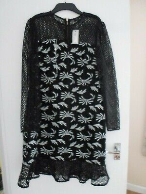 River Island Size 16 Black/ White Lace/embroidered NEW , SOLD OUT IN SHOPS  • 20.99£