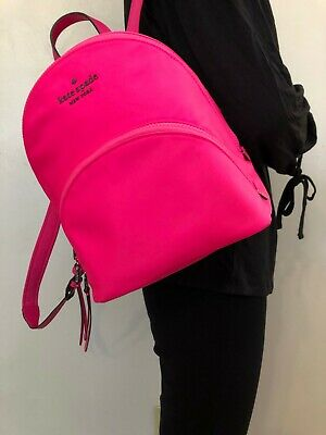 $ CDN115.48 • Buy Nwt Kate Spade Karissa Nylon Medium Backpack Radiant Pink Wkru6586