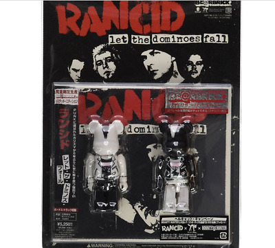 $161 • Buy BE@RBRICK RANCID Let The Dominoes Fall Bearbrick Medicom Toy Limited Lot Of 2 BW