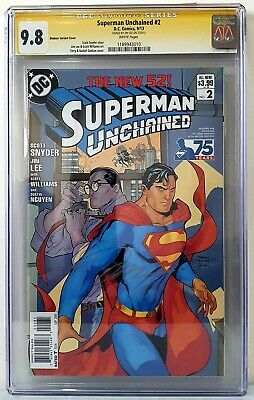 AU250 • Buy DC Comics Superman Unchained #2 1:25 Variant CGC 9.8 Signed By Jim Lee