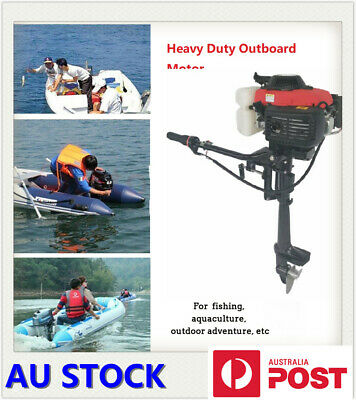 AU529.95 • Buy Heavy Duty Outboard Motor 4 Stroke 4 HP 44CC Boat Engine With Air Cooling System