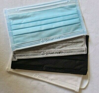 AU22.95 • Buy 4PLY X 50 Disposable Protective BLACK Face Mask MADE IN VIETNAM - AUS SENT