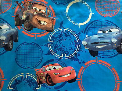 Disney Pixar Cars2 Twin Flat Sheet - Lightning McQueen, Mater And Finn McMissile • 13.07£