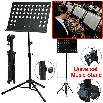 Heavy Duty Metal Foldable Music Stand Holder Tripod Orchestral Conductor Sheet • 11.99£