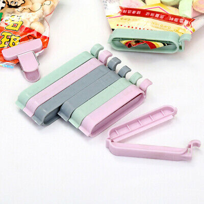 12 Food Bag Clips Reusable Tie Plastic Storage Sealing Fridge Freezer Fresh • 1.89£