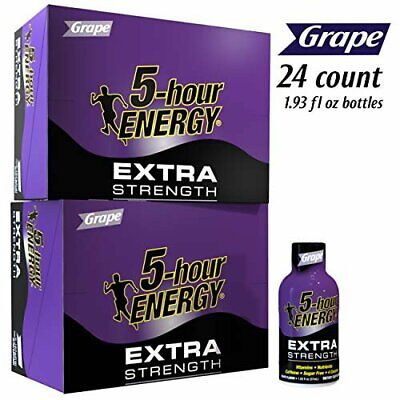 $ CDN73.61 • Buy 5 Hour Energy Extra Strength Grape TWO 12 Count Boxes Sugar Free 24 Count Total