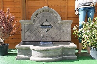 £611.91 • Buy Large Stone Tapas Wall Fountain Garden Water Feature Ornament Solar Pump