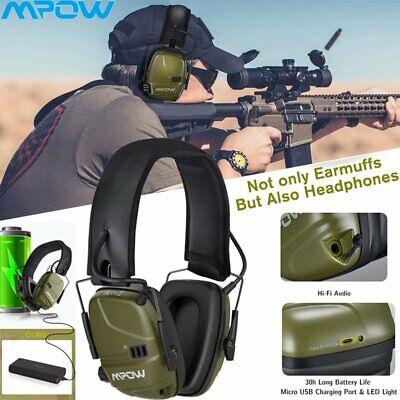 MPOW Electronic Ear Defenders Rechargeable ANC Earmuffs Dual Mic For Shooting UK • 31.49£