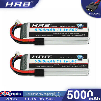 AU99.99 • Buy 2x 11.1V 3S 5000mAh LiPo Battery 50C Traxxas For RC Traxxas Car Truck Buggy Boat