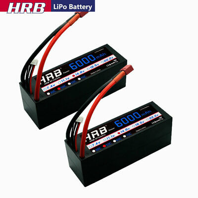 AU155.52 • Buy 2Pcs 14.8V 4S 6000mAh LiPo Battery 50C Hard Case Deans For RC Car Truck Buggy