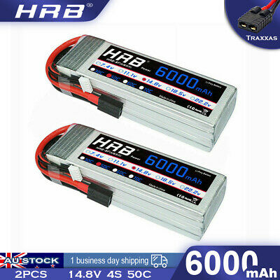 AU150.65 • Buy 2pcs 14.8V 4S 6000mAh LiPo Battery 50C Traxxas For RC Truck Helicopter Airplane