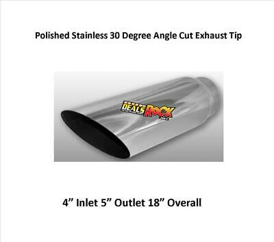 $ CDN38.65 • Buy Brand New Polished Stainless 30 Degree Angle Cut Exhaust Tip 4  IN 5  O 18  L