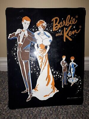 $ CDN55 • Buy Vintage Barbie & Ken Carrying Case Wardrobe 1963 Mattel Canadian Rare