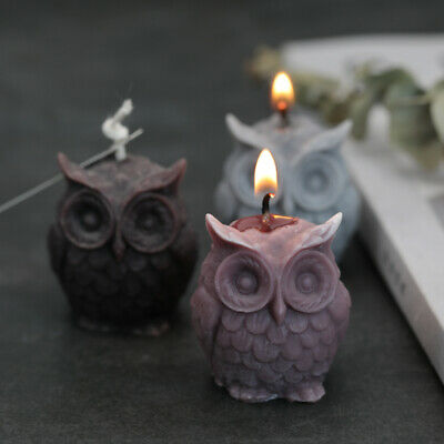 3D OWL Silicone Cake Fondant Sugarcraft Mold Wax Clay Soap Candle Making Mould • 3.99£